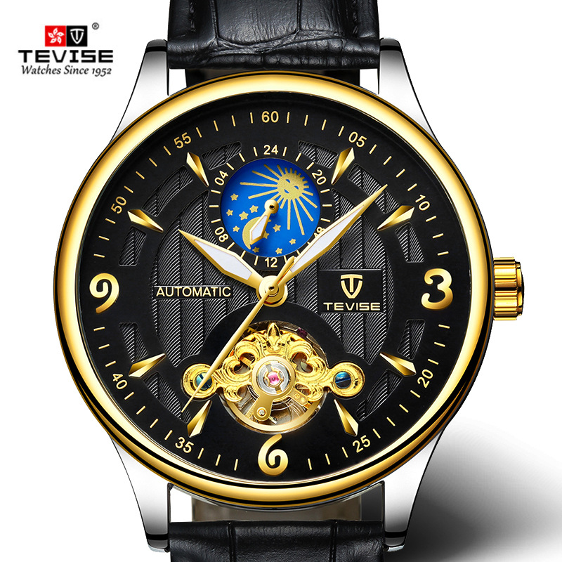 New TEVISE Brand Men Tourbillon Mechanical Wristwatch Fashion Luxury Clock Man Automatic Waterproof Watches Relogio Masculino цена