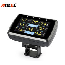 Ancel A501 Car OBD2 Smart Digital Meter Read Vehicle Instrument Information Show Speed Water Temperature Fault Detection Gauge(China)