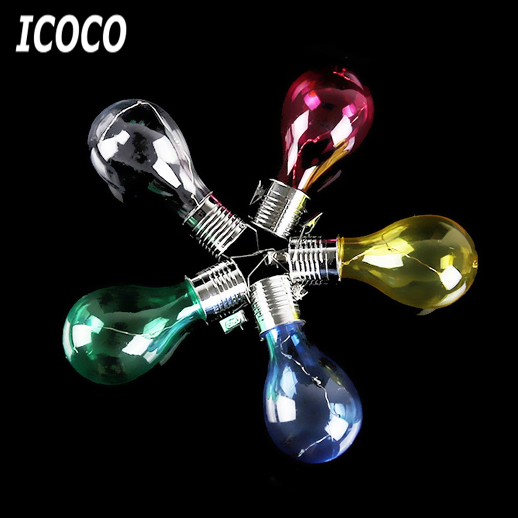ICOCO 5pcs/set Solar LED Light Bulbs Wireless Rotatable Waterproof Hanging Bulb for Outdoor Garden Camping Tree Decor New