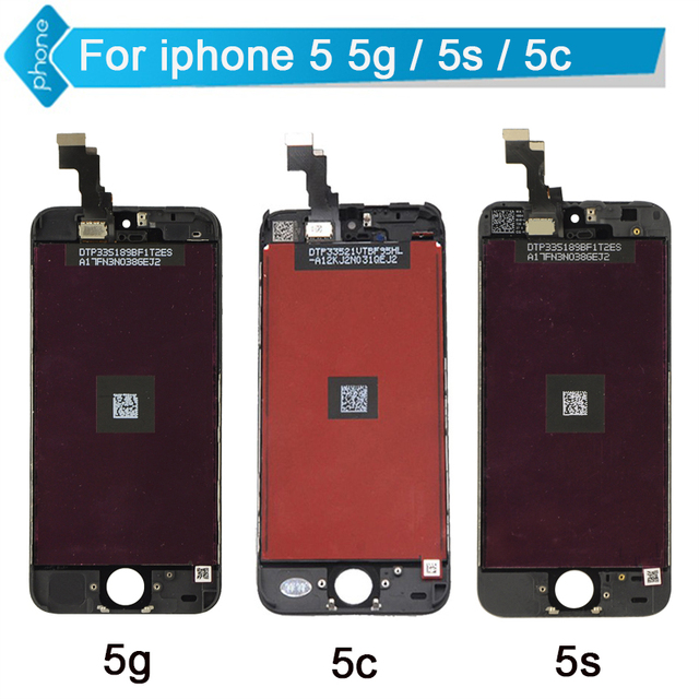 (5 PÇS/LOTE) um ++++ no dead pixel para iphone 5 5s 5c lcd display touch screen digitador assembléia para iphone 5s para iphone 5c