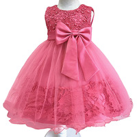 Baby Girls Bow Tutu Dress For Toddler 1 year Birthday Ball Gown Kids Party Girl Princess Dresses Clothes Infant Baptism Vestidos