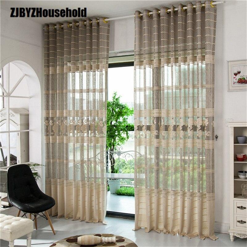 ⑧Cortina de tela jacquard Pantallas Cortinas para sala de estar ...