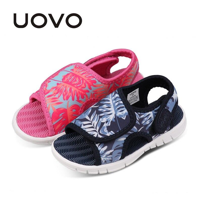 UOVO 아기 유아 샌들 2018 여름 신발 여자 및 소년에 대 한 가벼운 유일한 어린이 샌들 높은 품질 크기 24 # -32 #