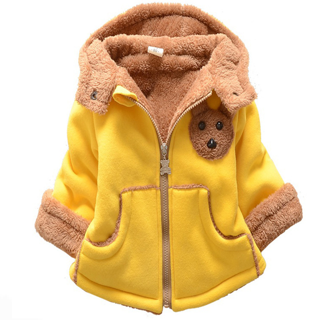 7-24months Cute Mouse Baby Winter Jackets And Coats Animal Toys Thickened Newborn Baby Boy Clothing Infant Boy Coats Outerwear