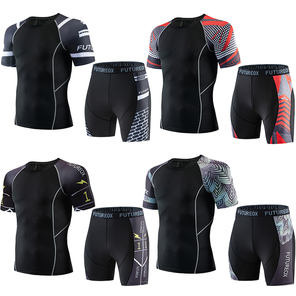 Mma Rashguard T-Shirt Breathable MMA Shorts Men Muay Thai Fight Boxing Jerseys Sets Short Sleeve BJJ Gym Clothes Sport Tracksuit