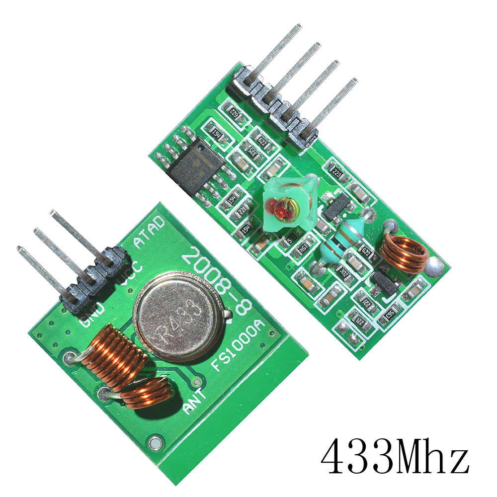 US $0 51 12% OFF|315 433 Mhz 315Mhz 433Mhz RF Transmitter And Receiver Link  Kit for Arduino Wireless Remote Control Module Voltage Module Board-in