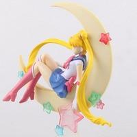 2017 Hot Sale 15 cm Japão Anime Kawaii Sailor Moon Tsukino Usagi PVC Action Figure Collectible Modelo Toy Meninas Boneca Figuras F041