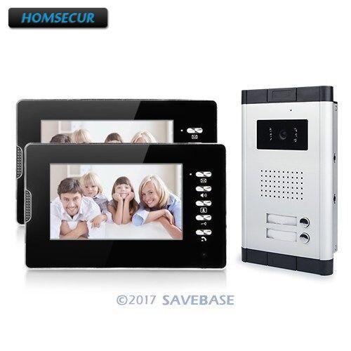 HOMSECUR Apartment Door Intercom Entry System 7 Monitor Video Audio Night Vision Camera