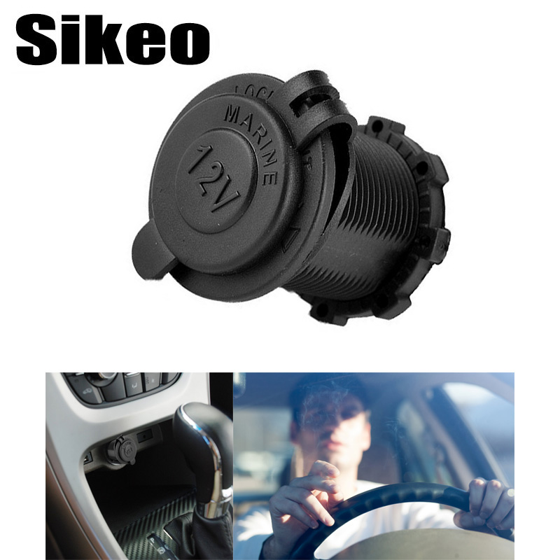 1pcs Auto Car Cigarette Lighter Socket 12V Waterproof Car Boat Motorcycle Cigarette Lighter Sockets Splitter Power Plug Outlet(China)