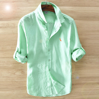 Dudalina Autumn New Fashion Reserved Long Sleeve Shirts Men Camisa Male Slim Shirts Vintage Linen Casual