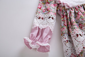 Image 5 - Pettigirl Muslim Girls Dress Long Sleeves Doll Collar Flower Printed Dress For Girls Birthday Party Dress Boutique Kids Clothes