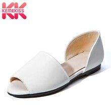 Купить с кэшбэком KemeKiss Women Sandals Open Toe Lazy Shoes Women 2019 Summer Flats Sandals Casual Fashion Catwalk Show Shoes Women Size 34-39