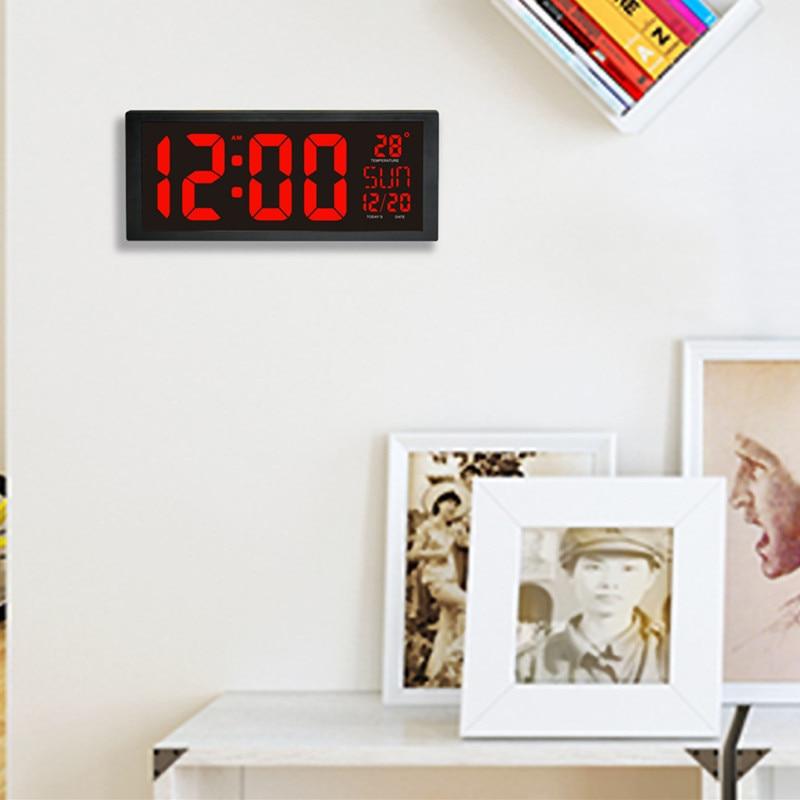 HD светодио дный LED большой экран настенные часы дома настольные календари дневной экономии времени светодио дный светодиодные электронные ...