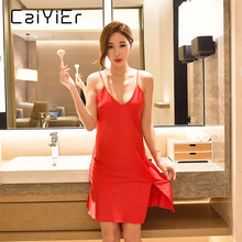 56eb84542 Caiyier 2018 Nightgowns For Women Sexy Lingerie Lace Hollow Strap Camisola  Sexy Lingerie Night Dress Sleepwear