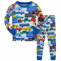 Cotton Long Sleeve Motorcycle Boys Pajamas Children Cartoon Pajamas Sets Baby Sleepwear Pajamas Kids for Boys Nightwear
