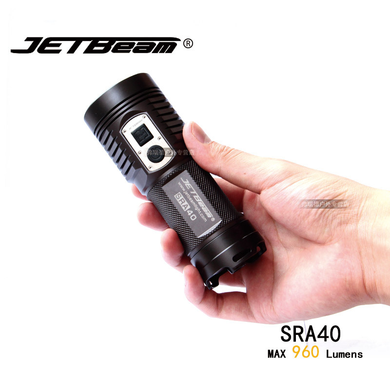 1 Set Original JETBEAM SRA40 Cree XM-L2 LED 960 lumens Led Flashlight Daily Torch Compatible with 4*AA battery nitecore mt10a tactical flashlight edc cree xm l2 u2 920 lumens led mini torch with red white light by 14500 aa battery