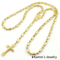 1 Piece Only Men S Women Charms Necklace Bead Chain Rosary Cross Pendant Necklaces Fashion Jewelry