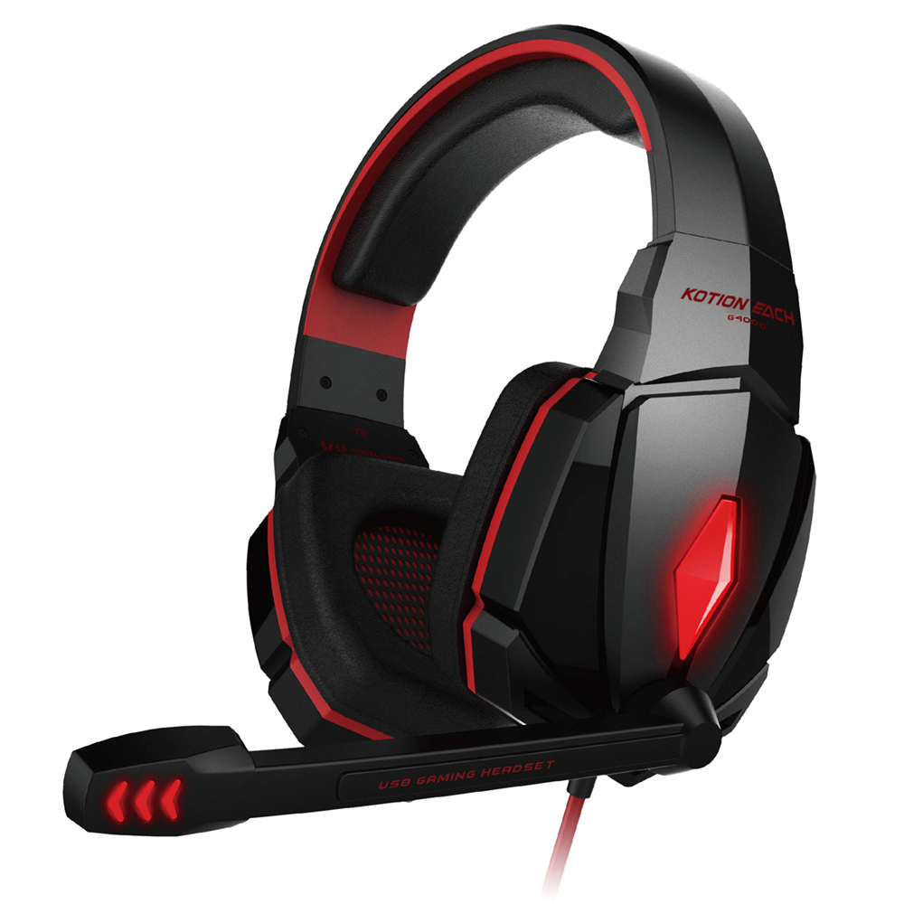 KOTION EACH Gaming Headphones Headset Deep Bass Stereo wired gamer Earphone Microphone with backlit for PS4 phone PC Laptop 3