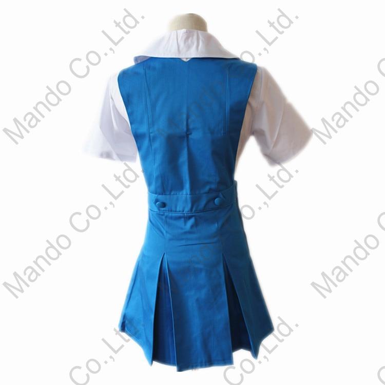 Blue dress cosplay eva