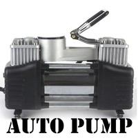air pump 12V 150PSI Vehicle mounted pump Tire inflation Double cylinder pump Auto inflator