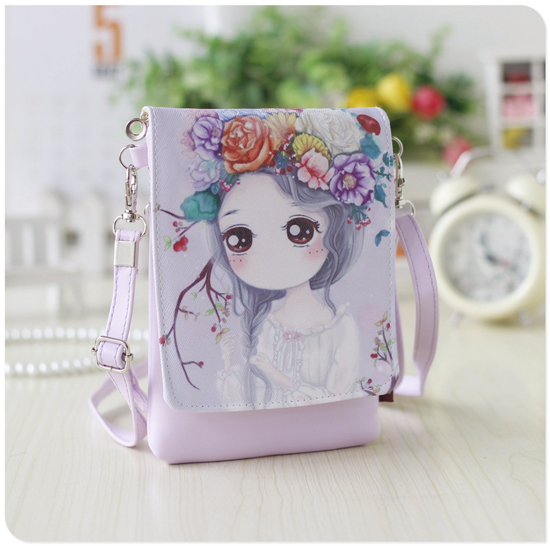 Lovely Cute Cartoon Wallet Small Zipper Coin Purse Fashion New Girl Wallet Messenger Crossbody Bag Designed for Children Kids new fashion style girl cartoon key coins zero wallet coin purses lovely children cards bag kids wallets