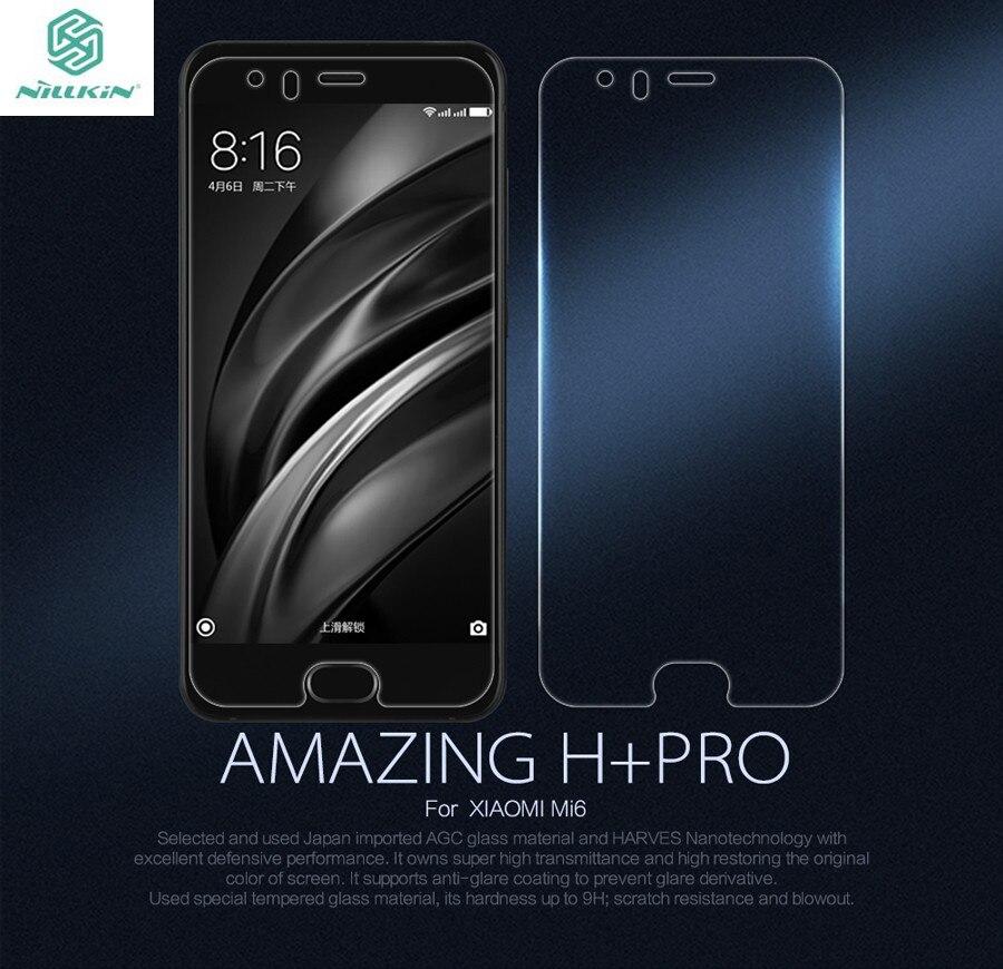 Nillkin trempé verre film pour xiaomi xiaomi m6 mi6 incroyable h + pro h nano anti-explosion 9 h dur écran de protection protecteur
