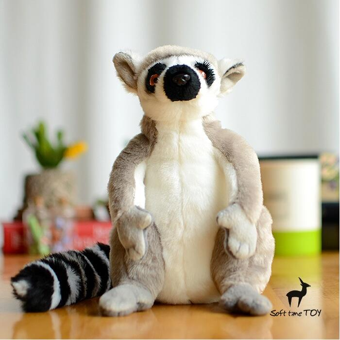 Simulation Animals Plush Children'S Gift  Toys  Ring-Tailed Lemur Doll  Stuffed Toy Store