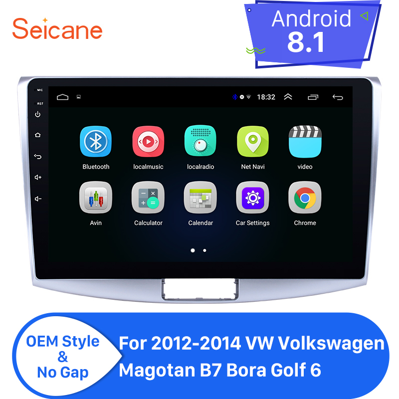 Seicane For 2012 2013 2014 VW Volkswagen Magotan B7 Bora Golf 6 Android 8.1 10.1 Car Radio Stereo GPS Multimedia Player Navi