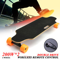 New 200W+200W Electric Skate Board Double Drive 24V Electric Skateboard 25KM/H For Young People + Remote Controller