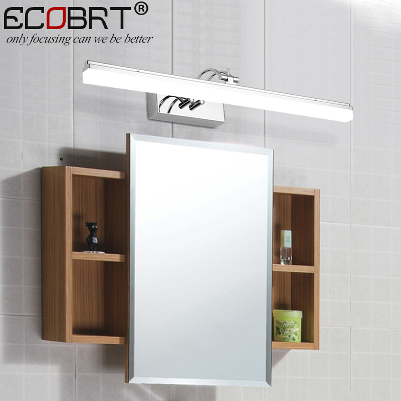 ECOBRT Modern led Wall Light Lamps in Bathroom with Swing Arm 14W 16W LED Mirror Light Acrylic Sconces Lighting 100-240V AC traditional classic metal silvery electroplating led bathroom mirror light led wall lamps light wall sconces 1 light ac