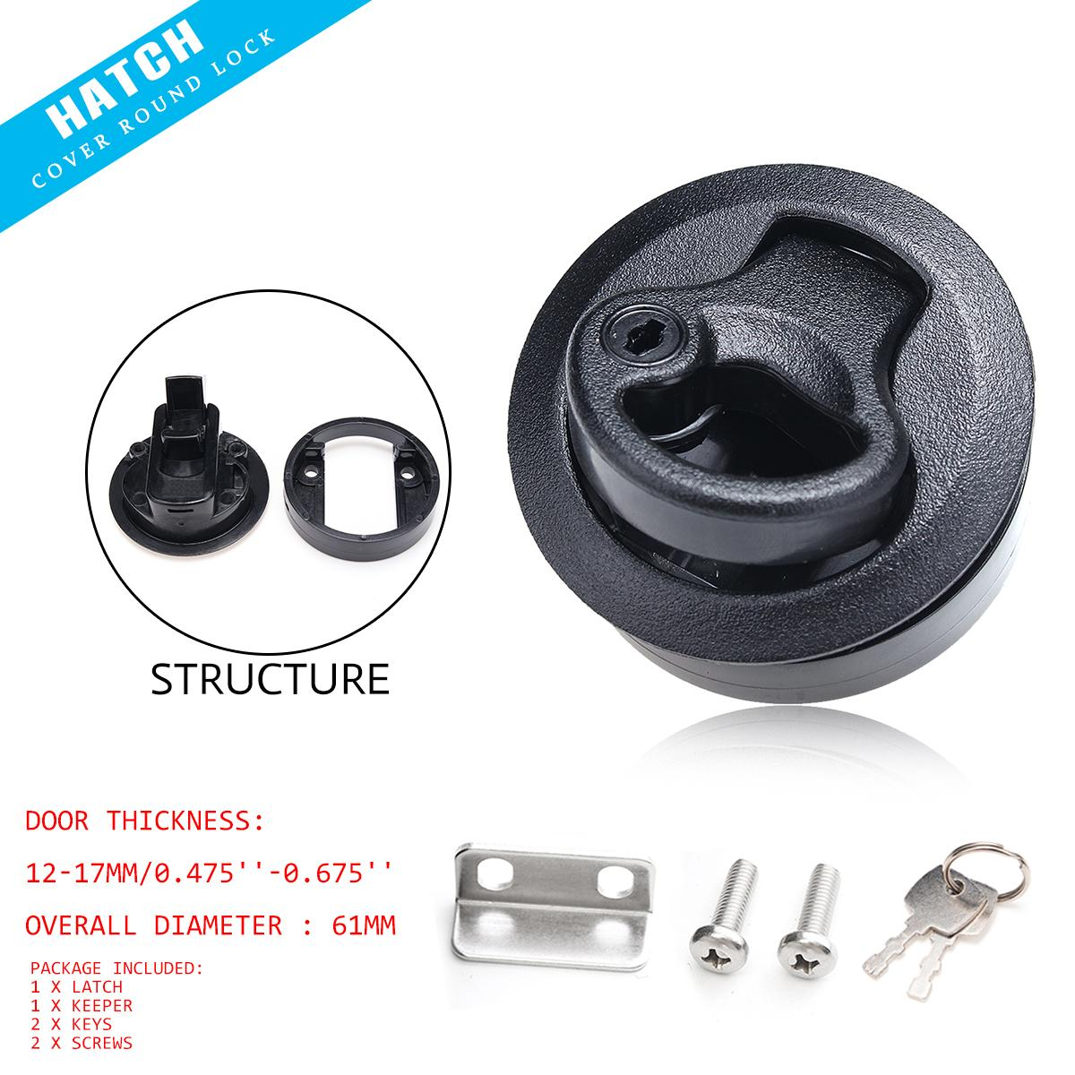 US $6 34 21% OFF|Slam Latch Hatch Round Pull w/ Lock 1/2'' Door For M1 43  RV Marine Boat 12 17mm-in Tools from Home & Garden on Aliexpress com |