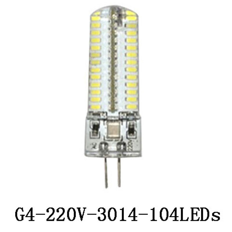 3W 6W 7W <font><b>9W</b></font> 12W <font><b>G4</b></font> <font><b>Led</b></font> Lamp AC 220V DC <font><b>12V</b></font> <font><b>LED</b></font> Light Corn Bulb SMD 3014 Silicone Body <font><b>LED</b></font> Bulb Crystal Chandelier 24 -120LEDs image