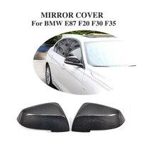 ألياف الكربون استبدال نوع الجانب الجناح أغطية مرايا قبعات لسيارات BMW 4-Door E87 F20 F30 F35 2011UP (لا يصلح لسيارات BMW 4-Door عربة)