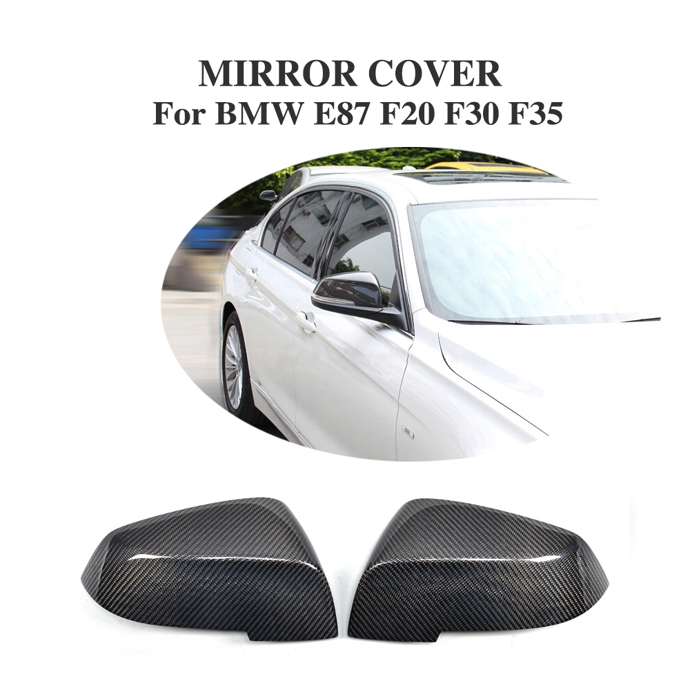 Carbon Fiber Replacement type Side Wing Mirror Covers Caps For BMW 4-Door E87 F20 F30 F35 2011UP (Not Fit For BMW 4-Door wagon) replacement car styling carbon fiber abs rear side door mirror cover for bmw 5 series f10 gt f07 lci 2014 523i 528i 535i