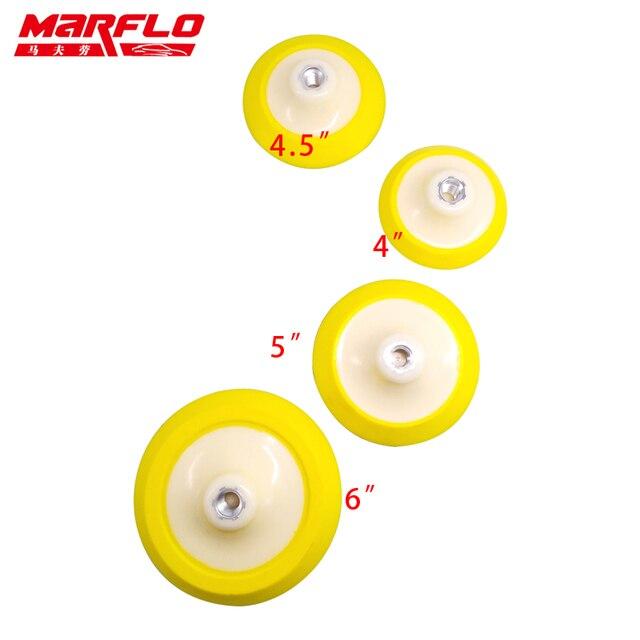 """Almohadilla de respaldo de placa Marflo para pulidor M14 con almohadilla de esponja de pulido almohadilla de respaldo de gancho de 4 """"4,5"""" 5 """"6"""""""