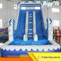 Inflatable Biggors Dolphine Стиль Надувные Мокрой Дуэль Горка С Бассейном Для Продажи