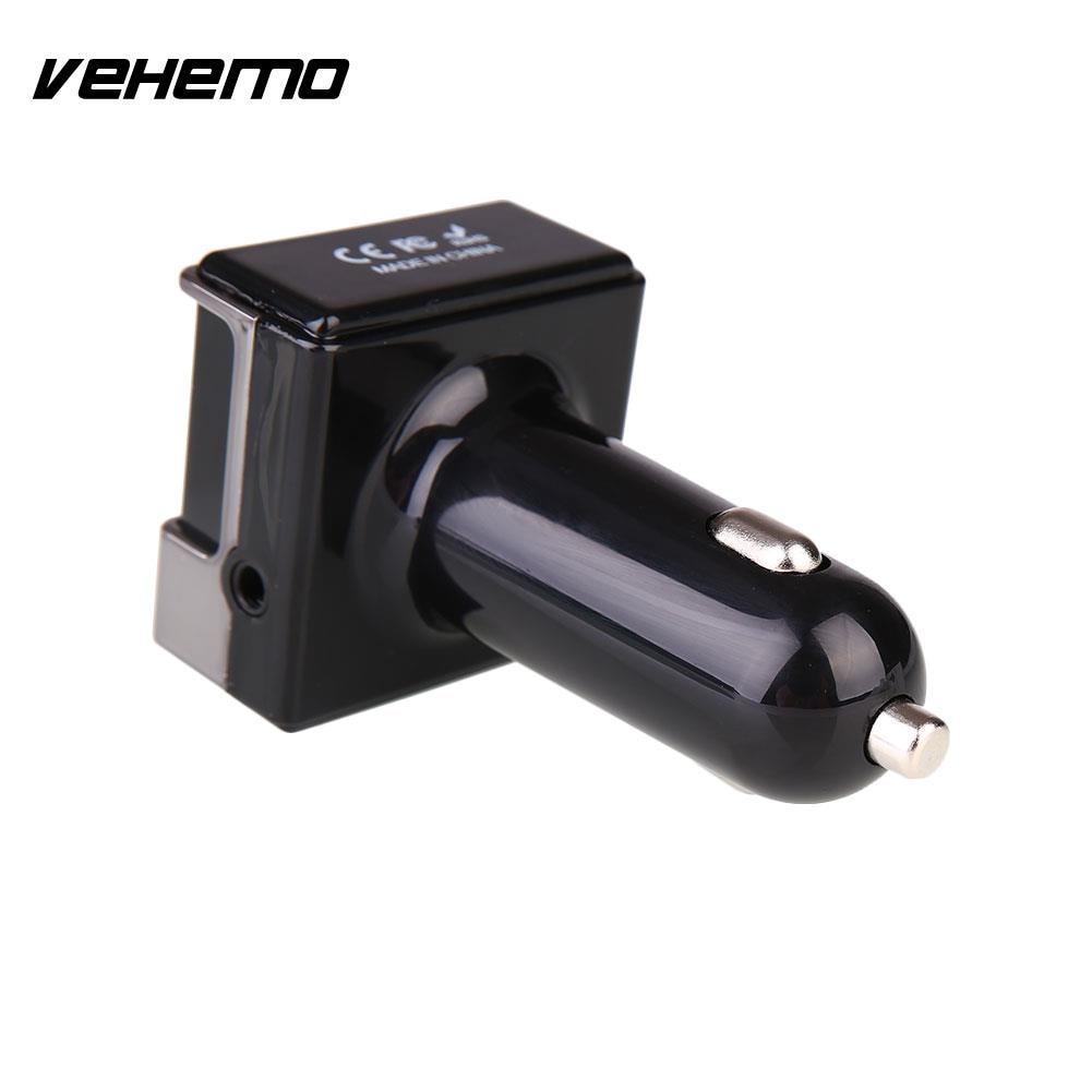 Vehemo Car Hands Free Bluetooth MP3 Player USB Charger Support FM CVC TF Card U Disk