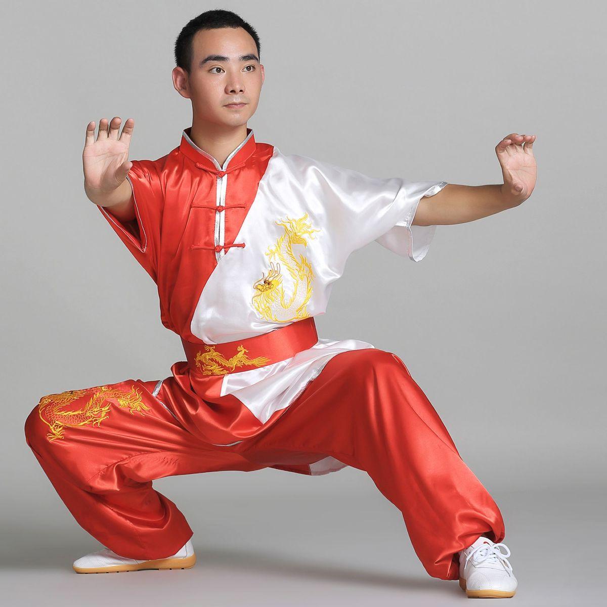 Piece Set Traditional Chinese Dress Men Clothing Roupas Wushu Kung Fu  Uniform Martial Art Judo Folk Kungfu Clothes Taichi