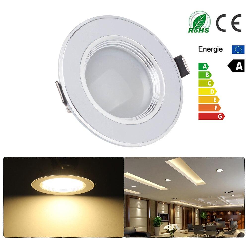 buy ultra slim 7w 9w 12w spot led white downlight flat lens recessed light. Black Bedroom Furniture Sets. Home Design Ideas