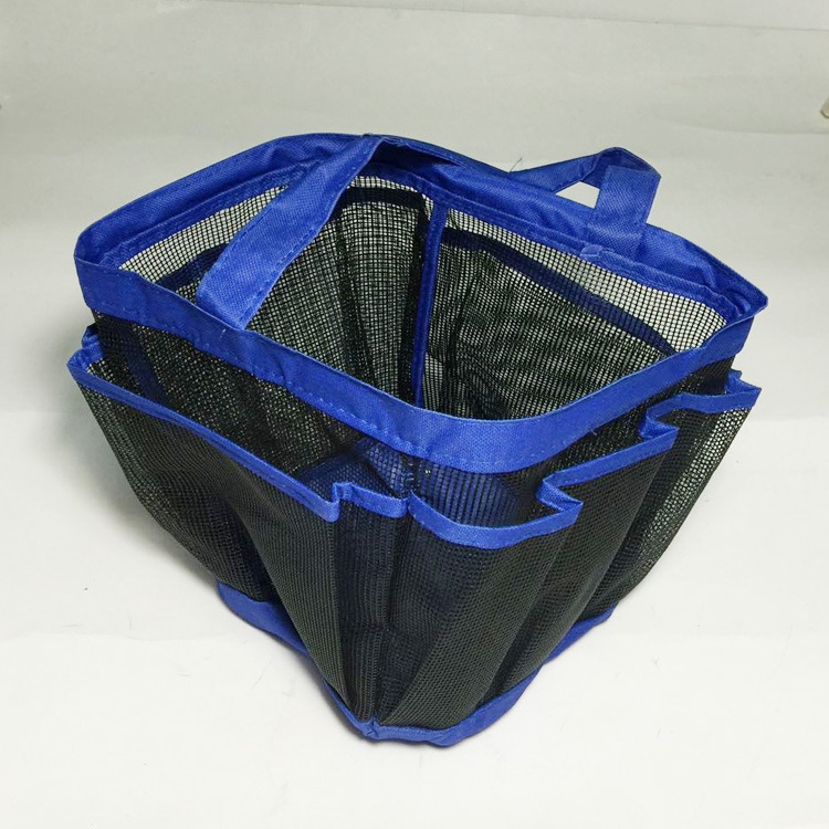 Polyester Mesh Shower Tote Travel Toiletry Bag Portable Washing Bag ...