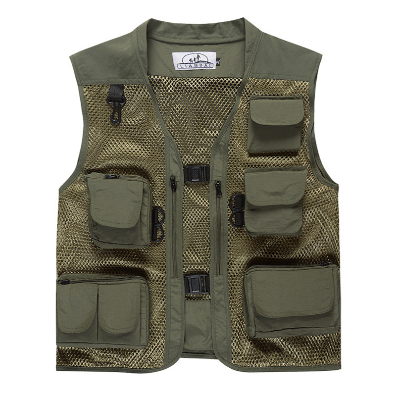 1PC  Camouflage Men Summer Fishing Vest Outdoor Mesh Photography Vest Multi-pocket Breathable Light Fishing Clothing Fish Tackle1PC  Camouflage Men Summer Fishing Vest Outdoor Mesh Photography Vest Multi-pocket Breathable Light Fishing Clothing Fish Tackle