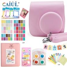 CAIUL Camera Accessories for Fujifilm Instax Mini 8 Leather Case Bag Colour Close-up Lens Filter Photo Album Film Frames Sticker