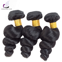 SHENLONG HAIR Brazilian Hair Weave Bundles Loose Wave Human Hair Bundles Can Buy With Closure Natural Color Remy Hair Extensions