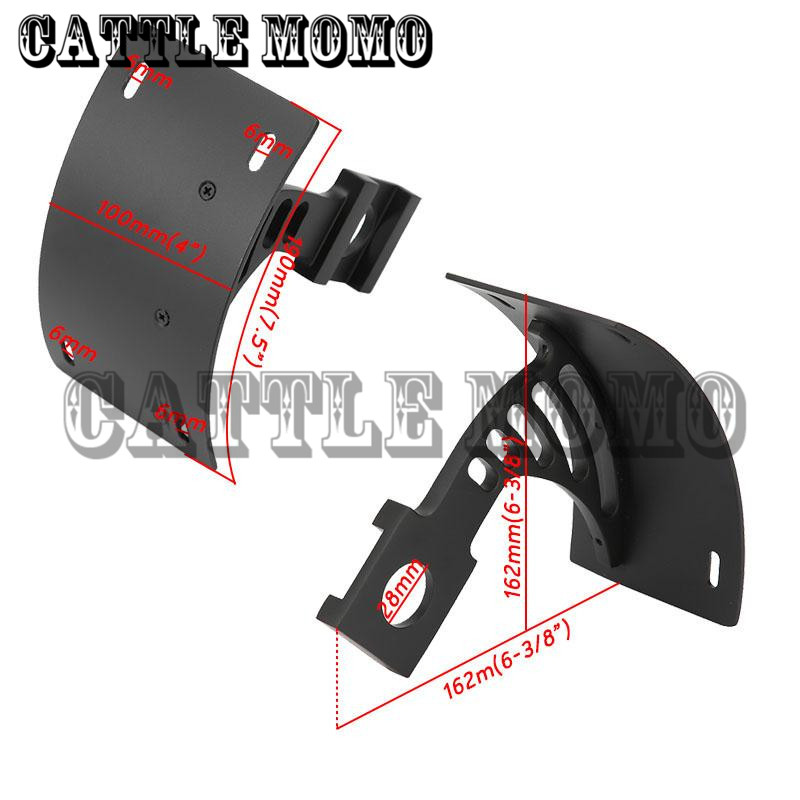 Motorcycle Curved Rear License Plate Frame Mount Tag Bracket For ...