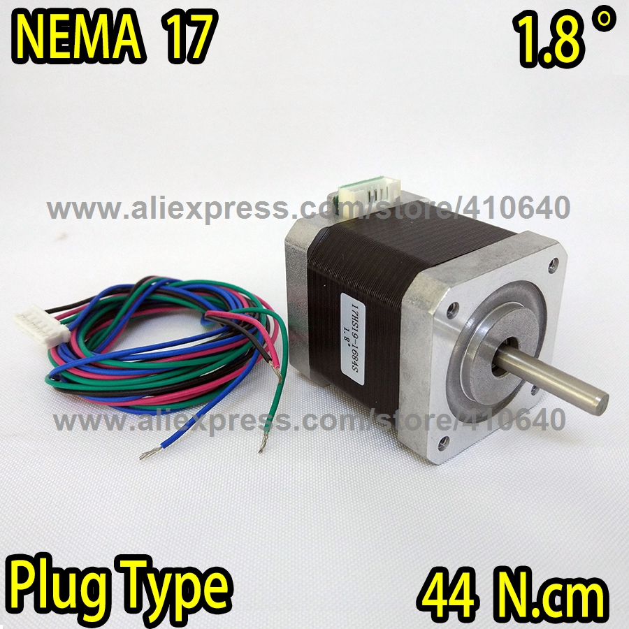 Free Shipping Plug Wire Type Stepper Motor 17hs19 1684s L47 Mm Nema 17 Wiring Diagram With 18 Deg 168 A 44 Ncm And Bipolar 4 Lead In From Home