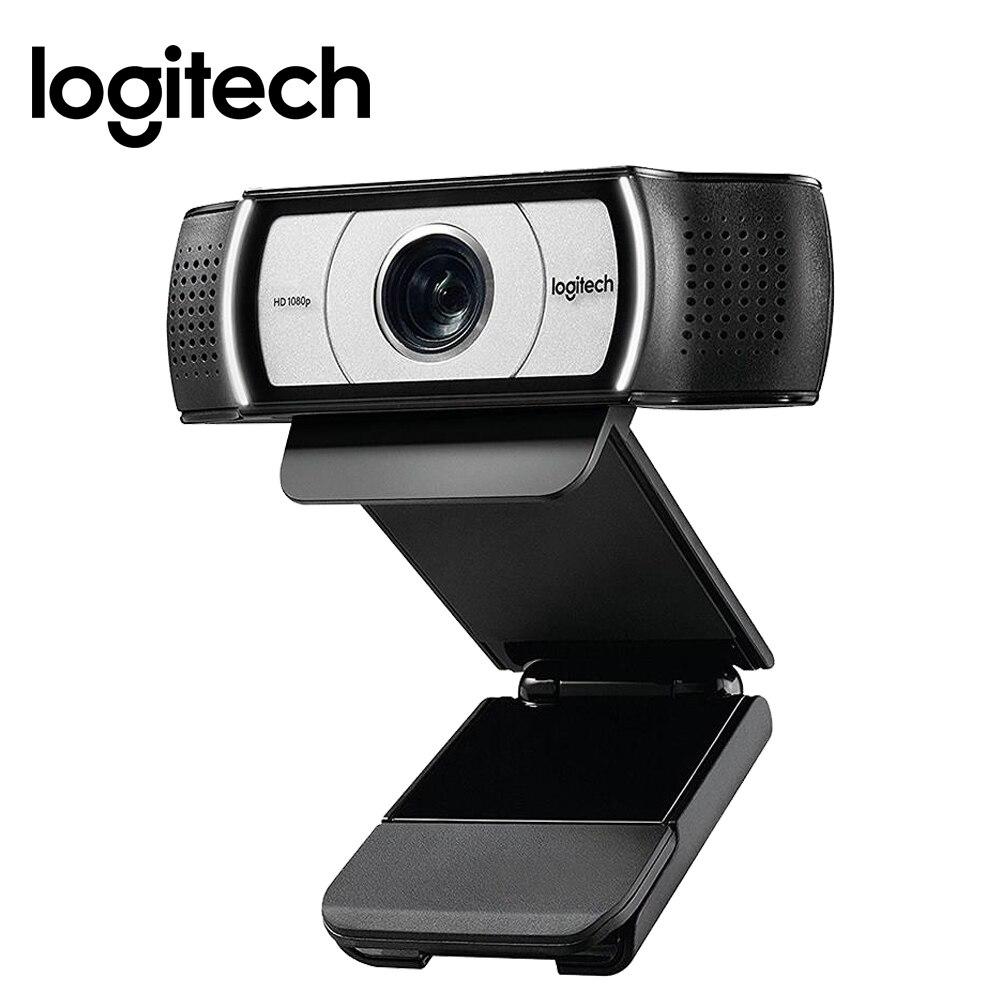 Logitech HD Pro Webcam C930e, Appels Vidéo Grand Écran et D'enregistrement, 1080 p Caméra, de bureau ou Ordinateur Portable Webcam, C930 mise à niveau version