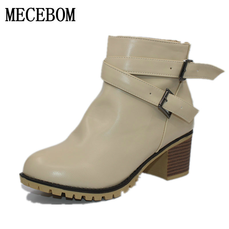 Autumn and winter women vintage Europe star fashion women high heels Ankle boots Snow short boots zipper plus size 34-43 0839W en index html