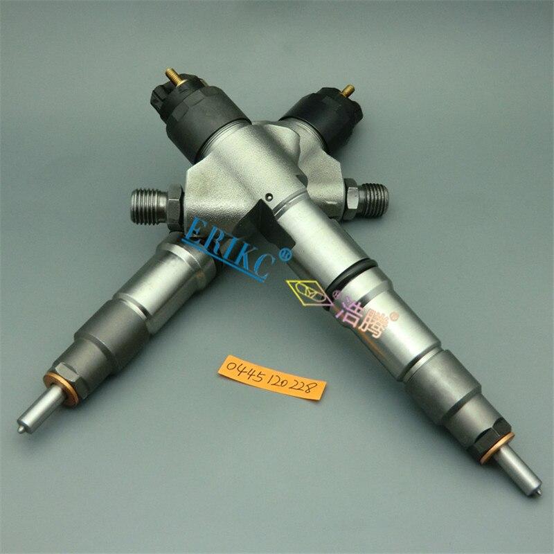 ERIKC 0 445 120 228 Common Rail Fuel Injector Set 0445120228 Diesel Engine Parts Injector 0445 120 228 for WEICHAI 612600080977 fuel injector set fuel injector engine injectors - title=
