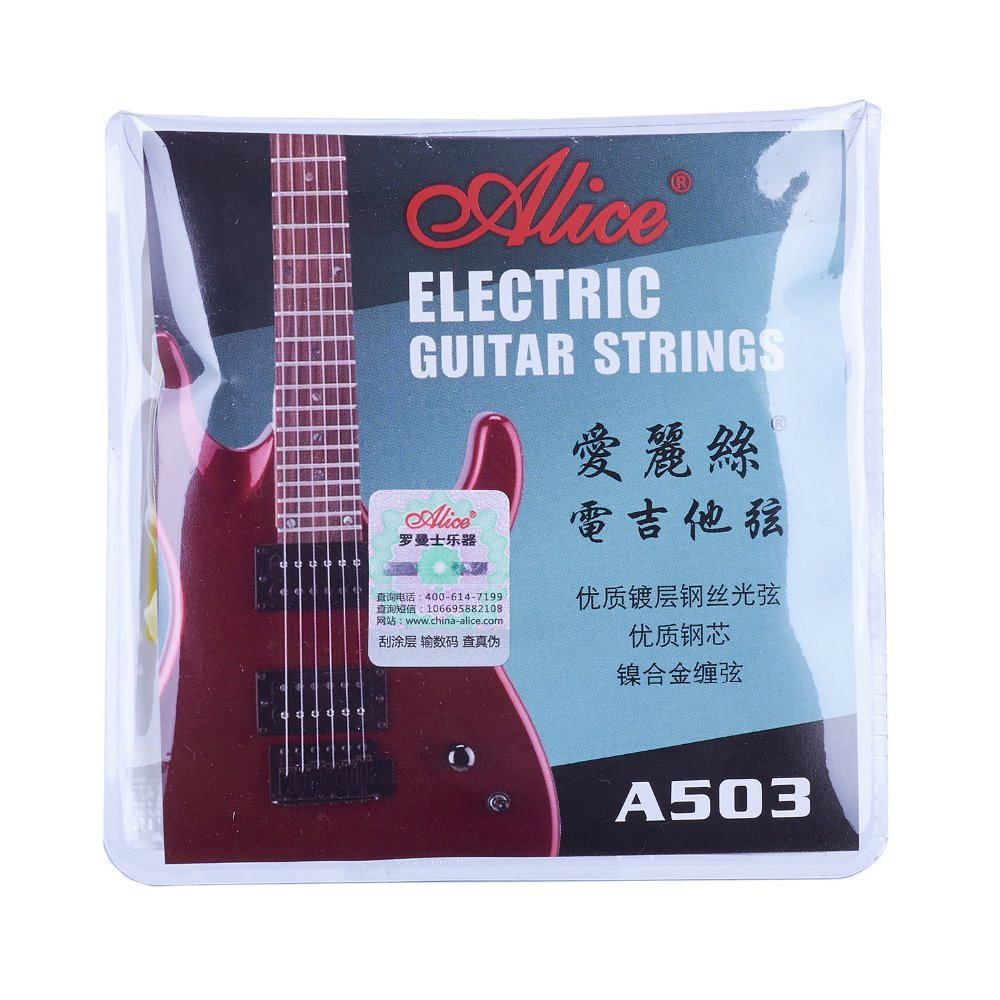 Alice Electric Guitar Strings Plated Steel 009 010 inch Coated Nickel Alloy Wound A503