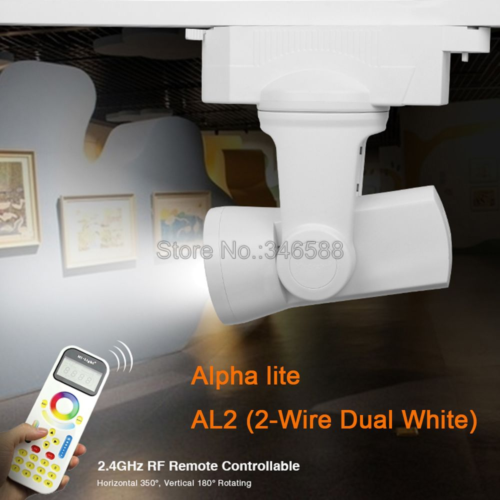 Lights & Lighting Mi.light Alpha Lite Al2 25w 2-wire Dual White Cct 2700k-6500k 99 Groups Led Auto Rail Track Light Ceiling Lights & Fans 2.4g Wireless Fut090 Remote